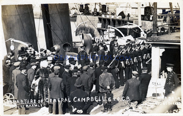 Departure of General Campbell 1908