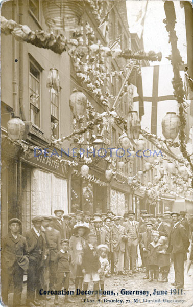 1911 June Coronation Decorations Guernsey