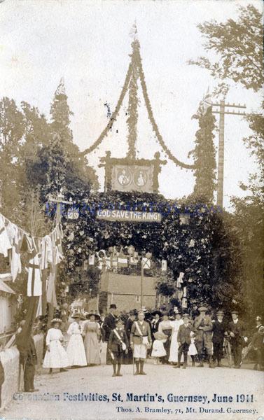 1911 June Coronation Festivities St Martins Guernsey