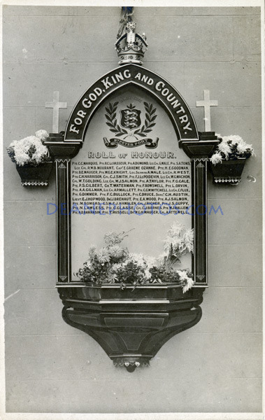 1917 Jan 4th Unveiling of War S Peter Port-no transcription