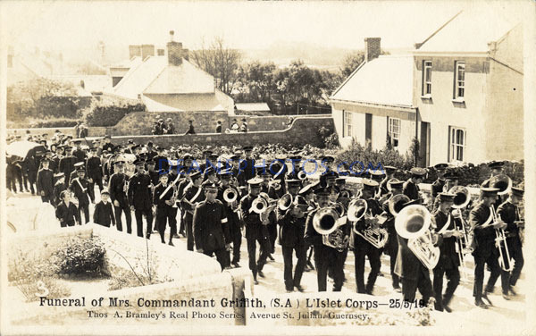 25-5-19 Funeral of mrs Commandant Griffith (SA) L'Islet Corps