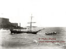The Brig Delphine of France in trouble at Havelet on 29th Dec1897