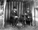 Edwardian Gentlemen in a Gazebo