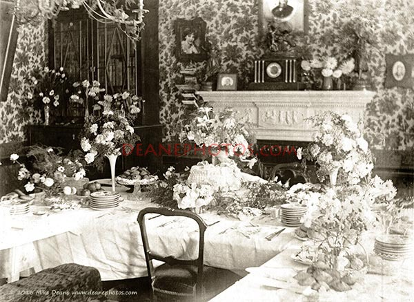 A Tea or Celebration Party at the beginning of the 20th Century