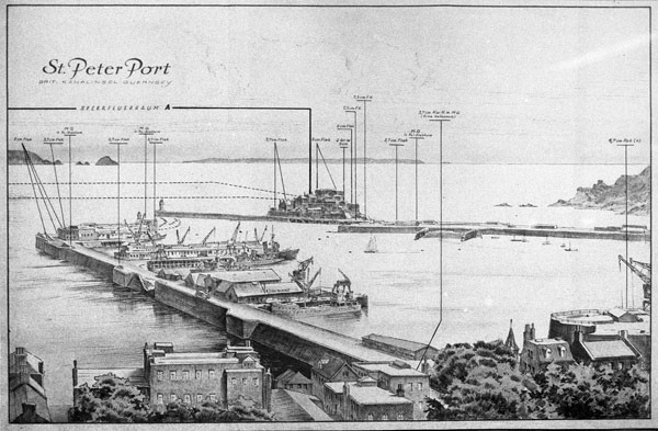 St Peter Port Harbour Gun Positions
