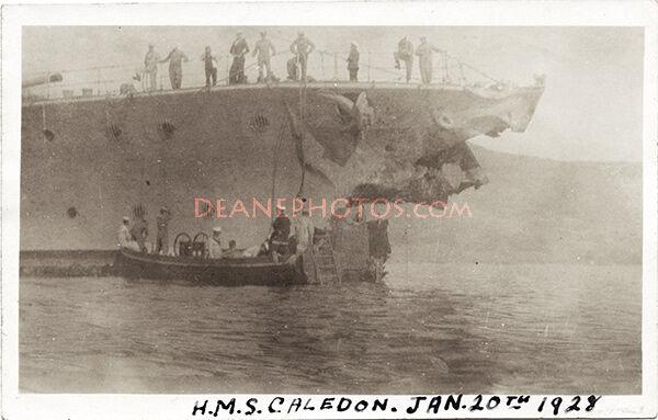 HMS Caledon Jan 20th 1928