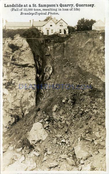 Landslide at a St Sampson's Quarry Guernsey