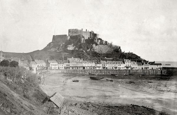 Mont Orgueil Castle with Gorey Village 1869