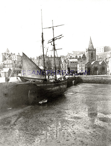 Old Harbour and Town Church area at the turn of Century