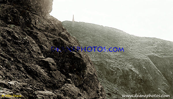 Pilcher Monument Sark Cropped View colourised