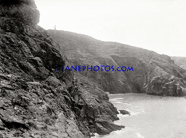 The Pilcher Monument from the sea in about 1910