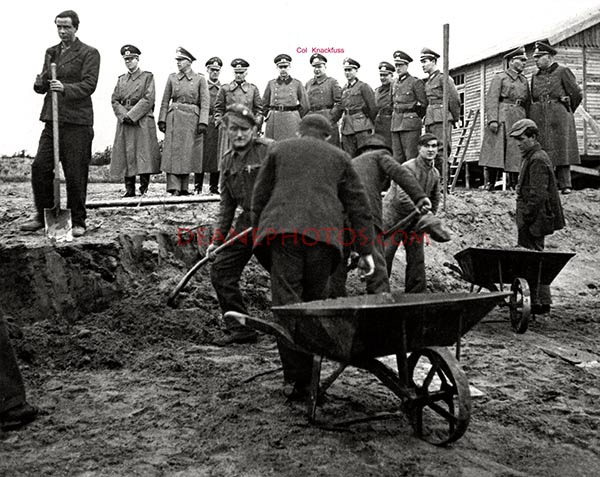 Colonel Knackfuss & Forced Labour Camp workers.