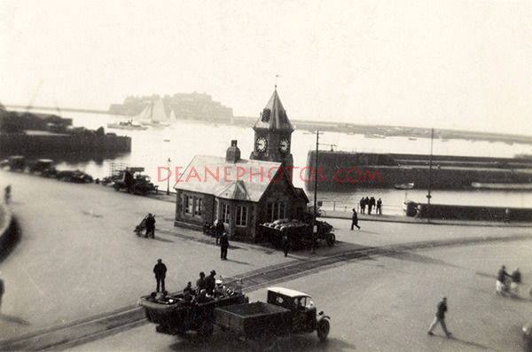 Pre WW2 Scene at the Weighbridge St Peter Port