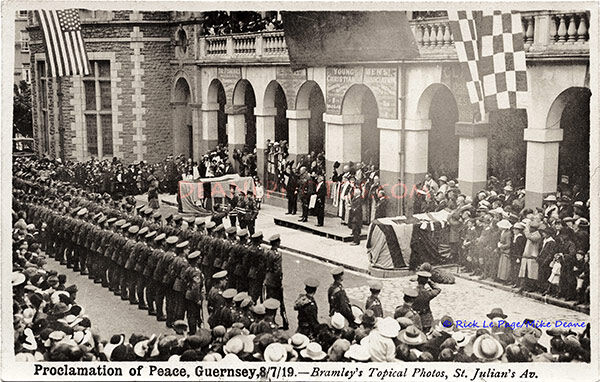 Proclamation of Peace Guernsey 8th July 1919