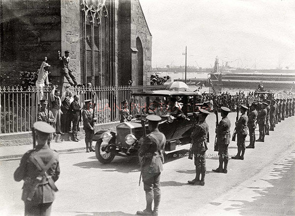 Royal Visit 1921 By the Town Church