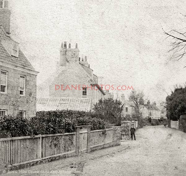 1870's view of Sausmarez Road St Martin's