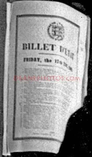 BILLET D'ETATS
