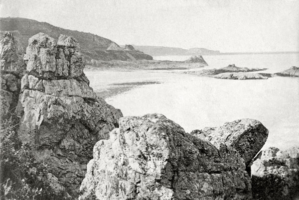 St Catherine's Harbour Jersey From Geoffrey's Leap 1869