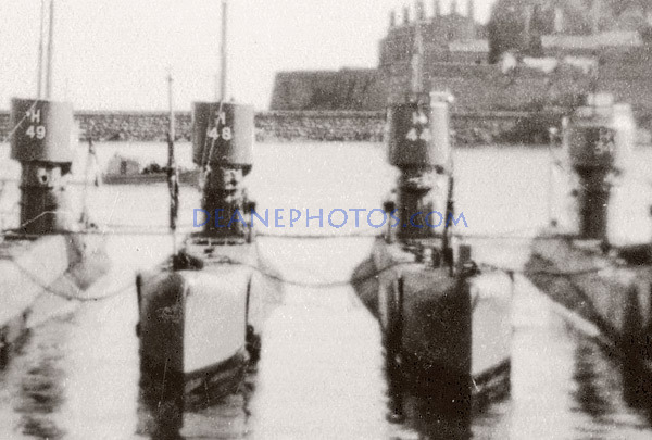 An enlargement of the H Class submarines