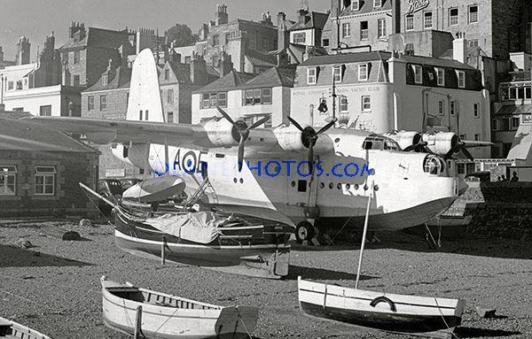 Short Sunderland MR.5 Flying Boat in St Peter Port Careening Hard