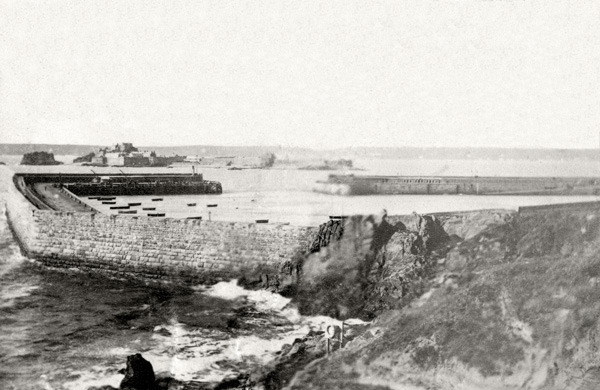 The Harbour St Helier Jersey With Elizabeth Castle and St Aubin's Bay 1869
