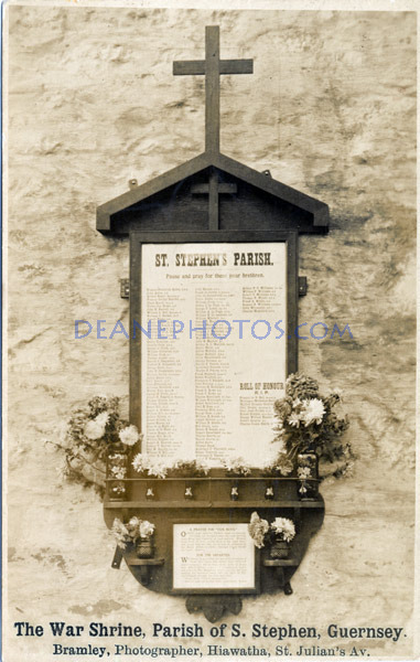 The War Shrine Parish of St Stephen Guernsey