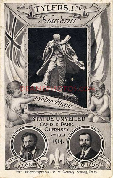 Victor Hugo Statue Unveiling Postcard