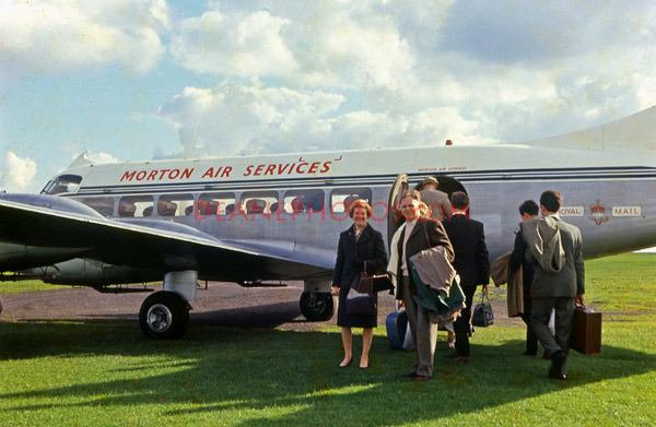 A de Havilland Heron at Alderney airport