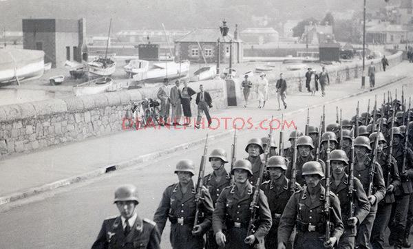 Marching German Troops