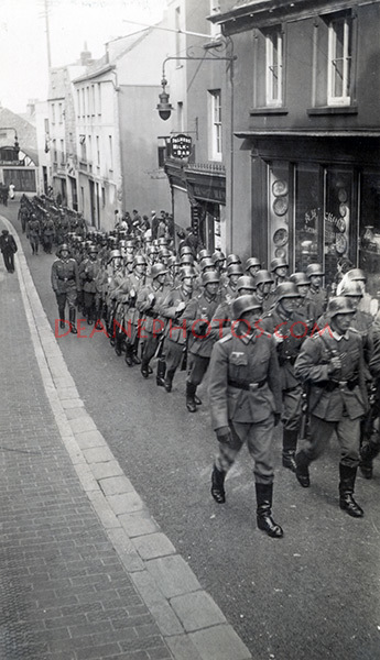 Marching German Troops in Le Pollet