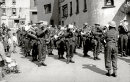 British Marching Band on Liberation Day 1945