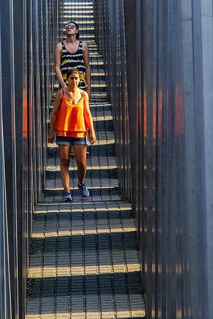 Shadow Steps from Holocaust Memorial Berlin - Jim Williams