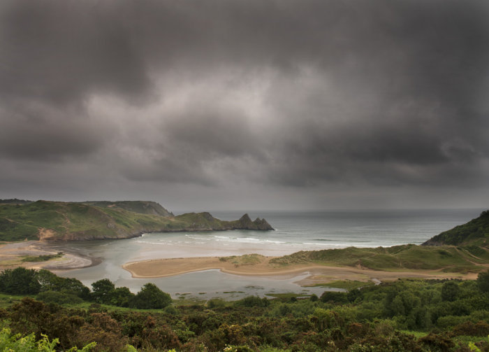 Summer storm clouds, Three Cliffs Bay