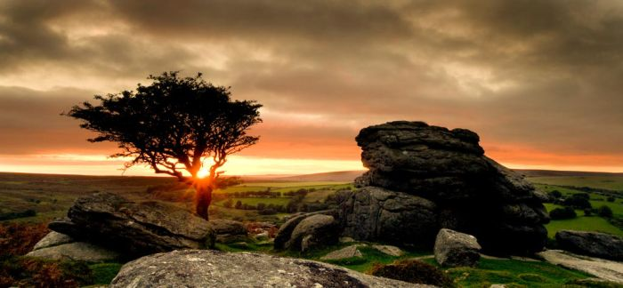 Saddle Tor Sunset