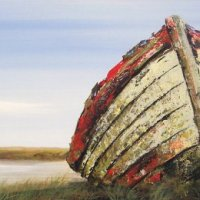 Boat at Thornham beach (sold)