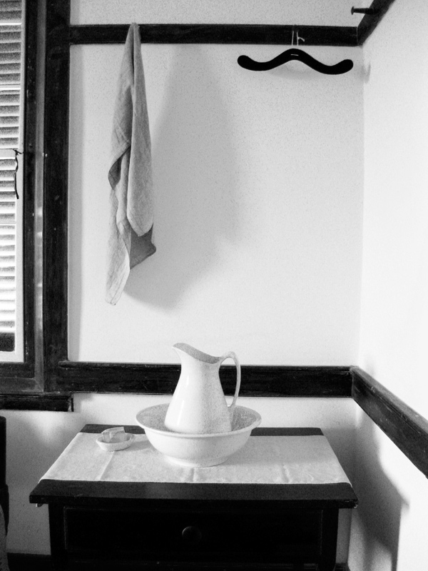 Wash Stand with Towel and Bowl