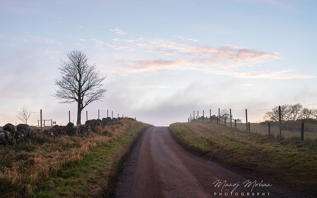 The road through Bonnyton moor