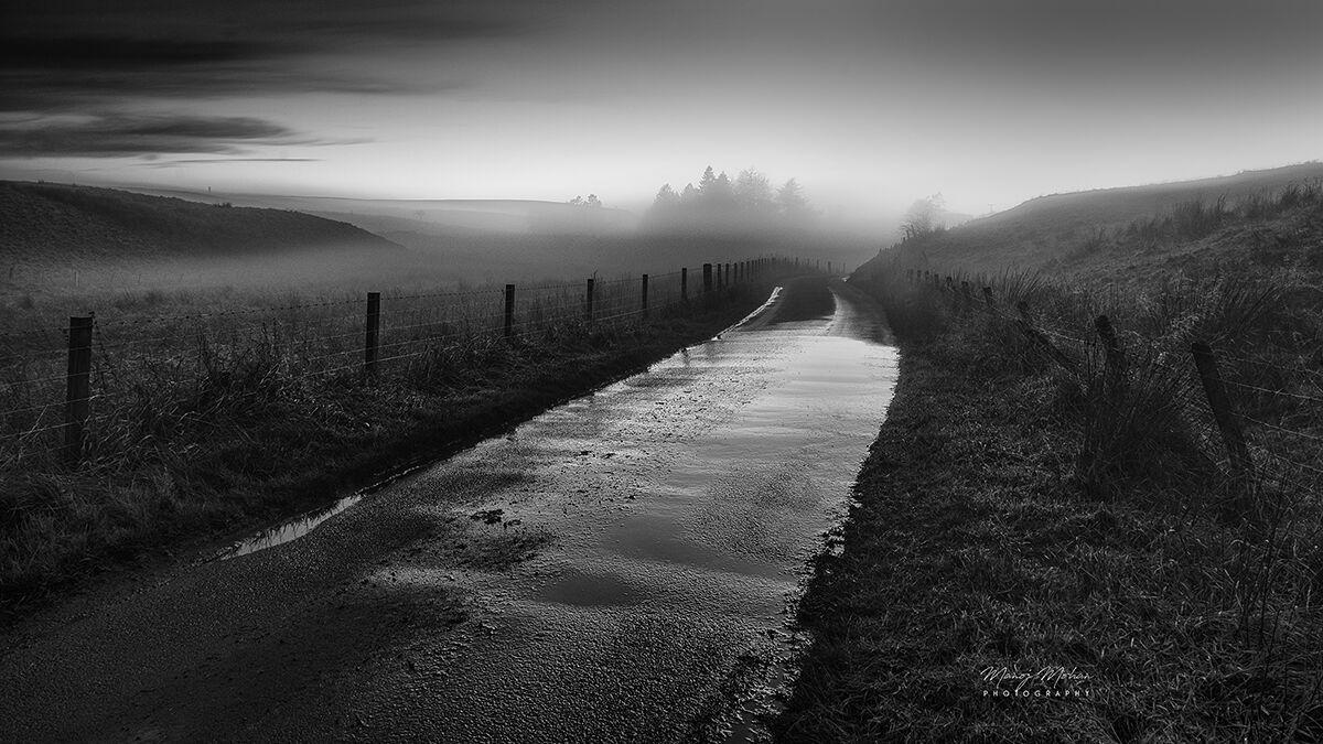 The road through Bonnyton moor