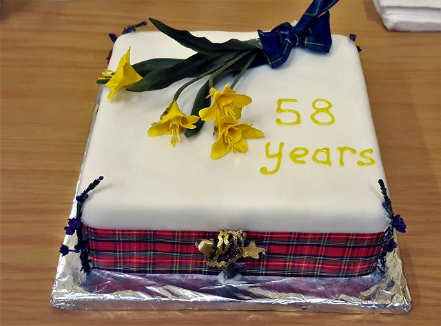 Cockermouth Scottish Country Dance Club Birthday Cake 2018
