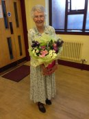 Audrey. A loyal, long serving member of the committee retires. May 2015
