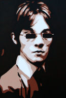 """THE SMALL FACES. (BROWNS & CREAMS.)SIZE: 40"""" X 16"""". (CLOSE UP.)"""