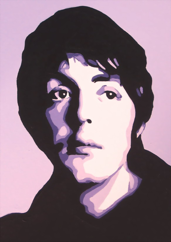 THE BEATLES - (CLOSE UP OF PAUL.)SIZE: 36