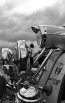 LAMBRETTA AND STORMY SKIES B&W.
