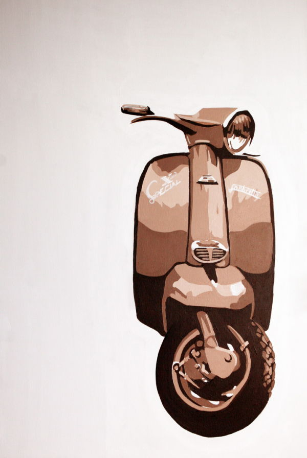 LAMBRETTA SX200. (BROWN)