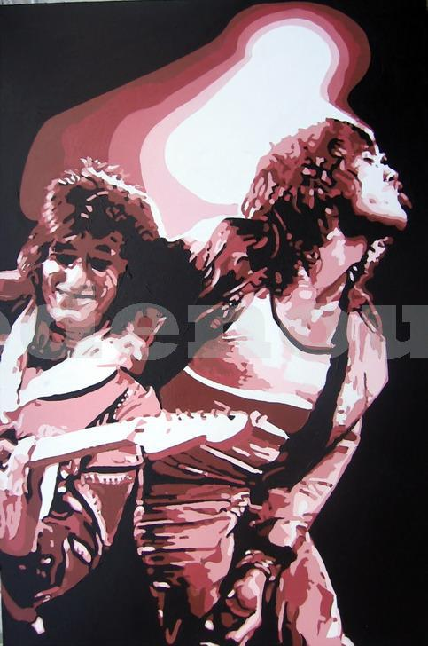 ROLLING STONES - MICK & RONNIE.SIZE: 36