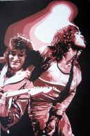 "ROLLING STONES - MICK & RONNIE.SIZE: 36"" X 24""."