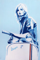 "SCOOTER GIRL (2). SIZE: 24"" X 18""."