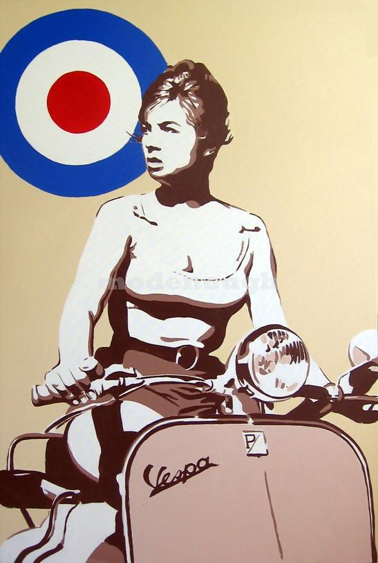 SCOOTER GIRL.(VESPA.)