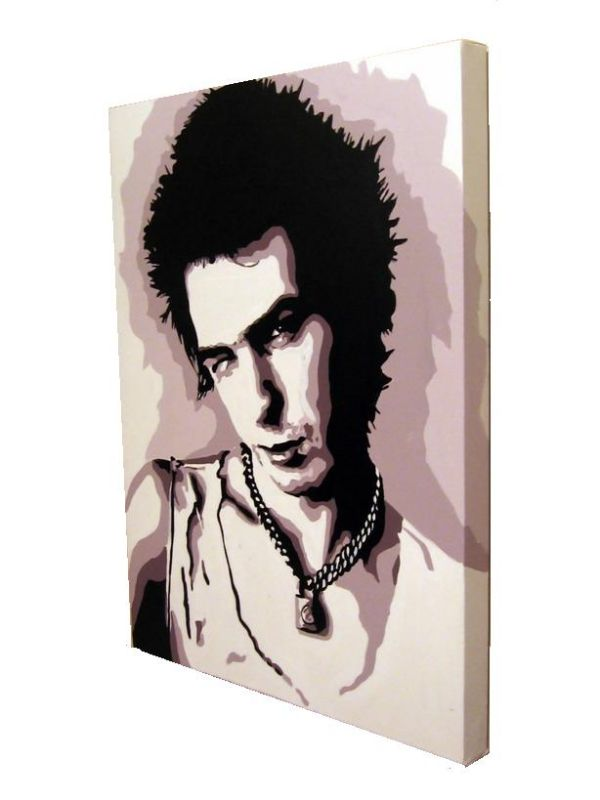 SID VICIOUS - THE SEX PISTOLS.(SIDE VIEW.)SIZE: 24