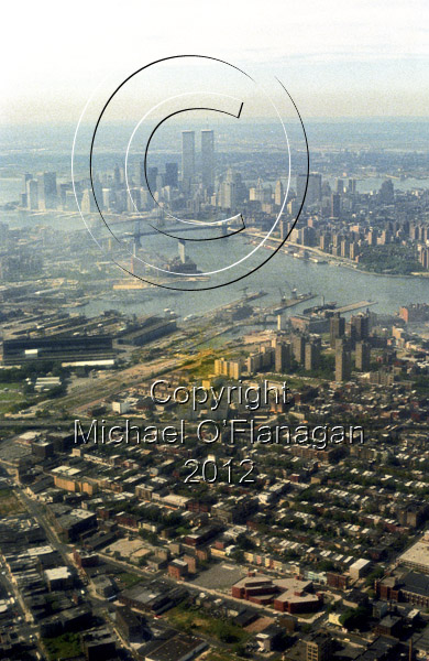 Aerial of New York Skyline & Former Twin Towers Ref. # F79.24a